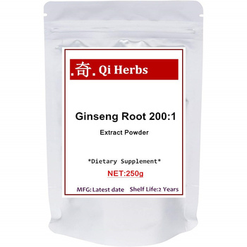 Maximum Strength Organic Ginseng Root 200:1 Powder, with Active Ginsenosides To Support Energy, Immune
