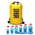 2L/5L/10L/15L/20L/30L PVC Outdoor Sport Waterproof Storage Dry Bag For Canoe Kayak Rafting Swimming Travel Kit Sack Backpack