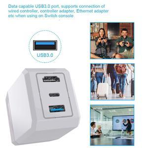 Image 2 - AC 充電器ドックベース支持充電テレビモードスイッチ HDMI USB ポート nintend スイッチ Huawei 社 P30 プロサムスン note8