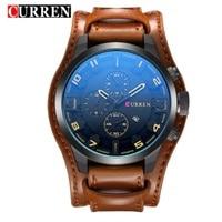 Zegarek relogio masculino CURREN mężczyźni wojskowy zegarek kwarcowy męskie zegarki Top marka luksusowe skórzany zegarek sportowy zegarek Drop Shipping 8225 w Zegarki kwarcowe od Zegarki na