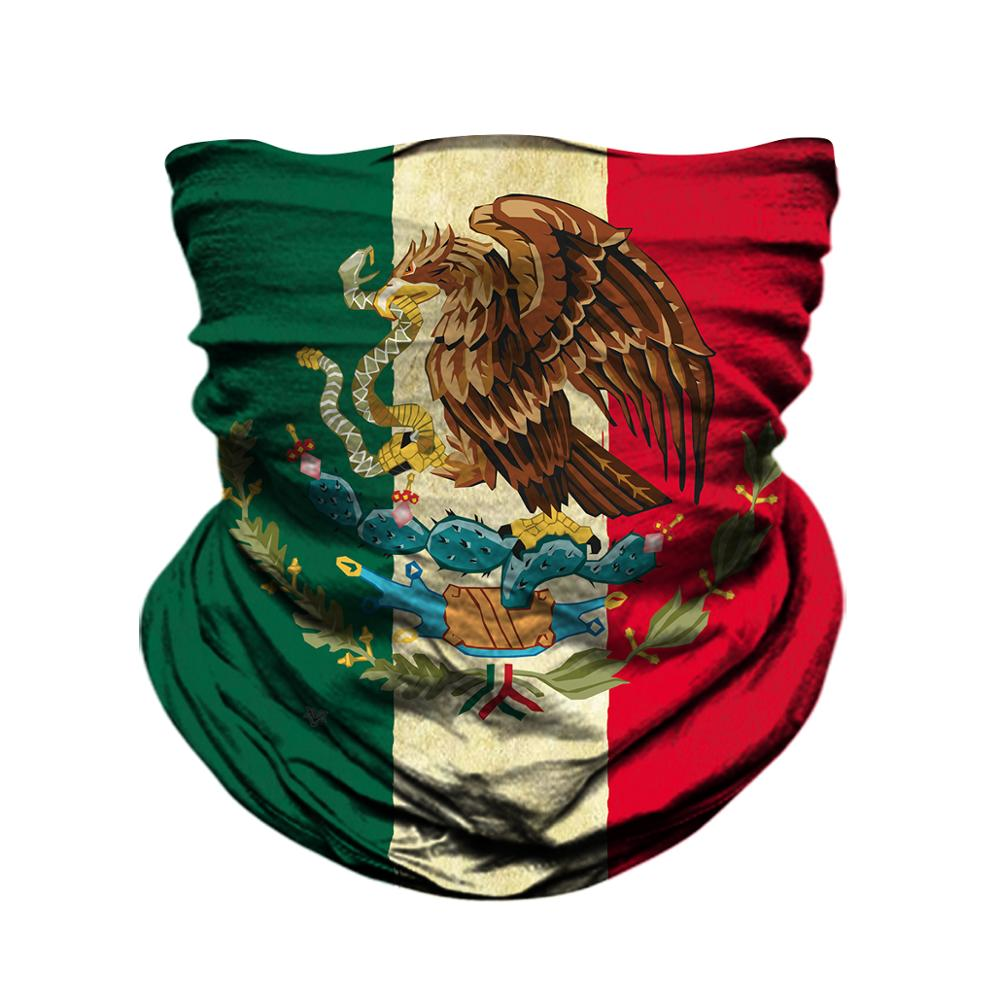 Bandana Headband Fashion Mexican Flag Lighting Multifunction Magic Handscarf,Face Mask,Neck Gaiter,Balaclava,Sweatband,Head Wrap,Outdoor Sport UV Resistence.