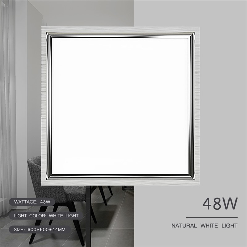 60*60cm Panel Light Square LED 48W Surface Ceiling Downlight Ceiling Lamp Suspended Recessed Panel White Light Office Lighting