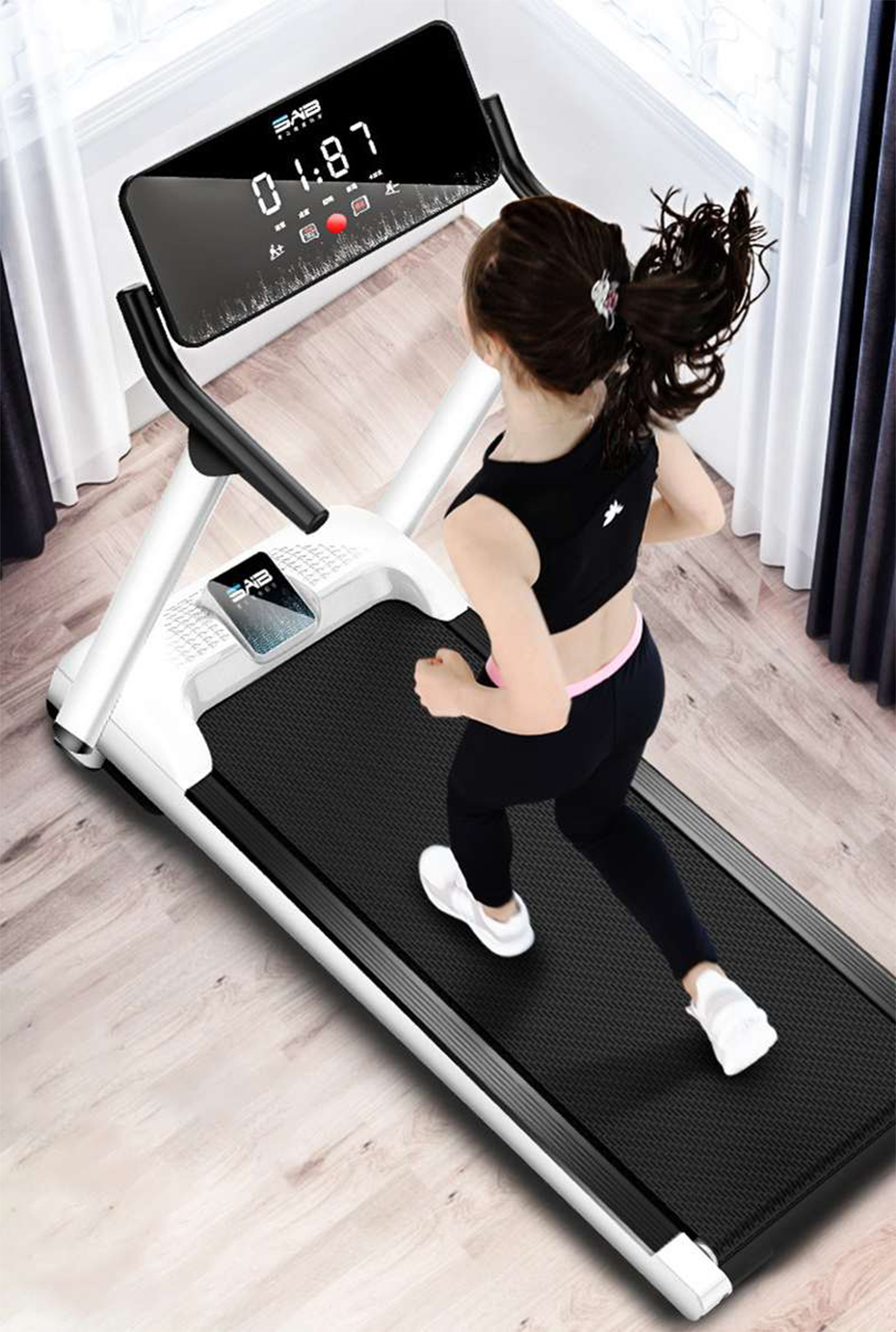 K-Starf Treadmills Multifunctional Foldable Mini Fitness Home Treadmill Indoor Exercise Equipment Gym Folding House Fitness