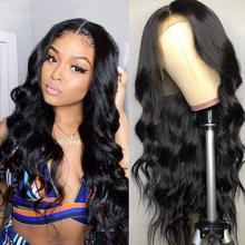 Marchquen 150% 13x1 4x1 t parte peruca do laço cabelo humano março rainha brasileira não remy onda do corpo perucas de cabelo humano para preto