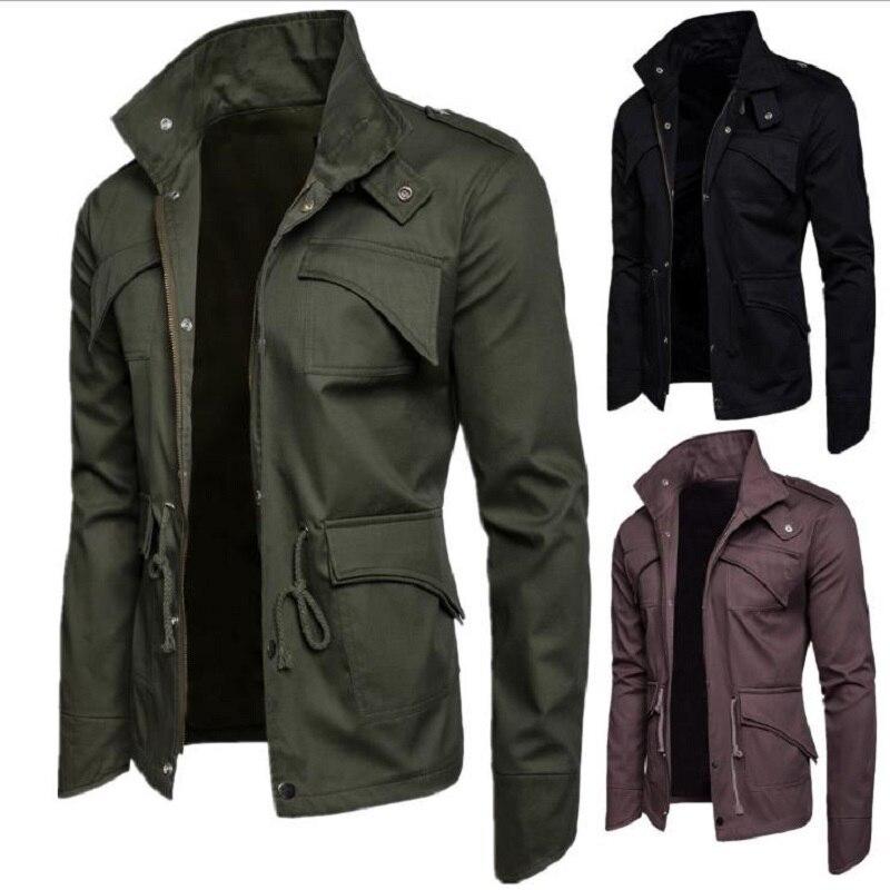 2020  Jacket Men Spring Autumn Cotton Windbreaker Pilot Coat  Men's Bomber Jackets Cargo Flight Jacket Male Clothes