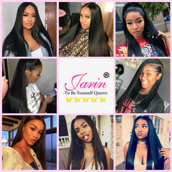 Brazilian Straight Hair 3 Bundles With 2x6 Closure 100% Remy Human Hair Bundle Deal With Middle Part Lace Closure 8-26Inches