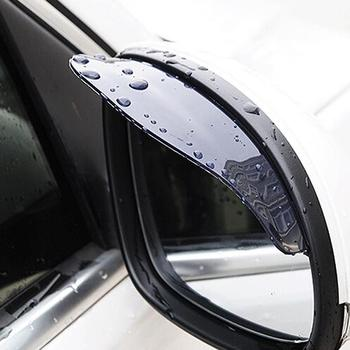 2 Pcs Universal Rear View Side Mirror rain Eyebrow Visor Shade Shield Water Guard Black Clear Rain Snow Shield for Car Truck
