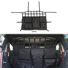 Для Jeep Wrangler JK 2007- Автомобильная Задняя сумка для хранения на спинку сиденья Висячие сетки Карманный багажник контейнер Tidying интерьерные аксессуары