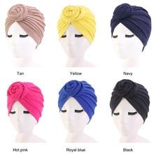 Donut Turban Caps for Women Chemo Hat Islamic Cotton Headscarf Hat Female Headband Turbans Muslim Cap Chemotherapy Cap