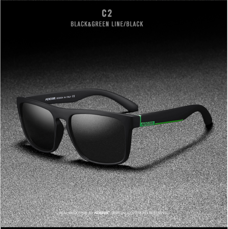 He309116fccf94031b900fee1bb7f1c487 - New KDEAM Mirror Polarized Sunglasses Men Ultralight Glasses Frame Square Sport Sun Glasses Male UV400 Travel Goggles CE X8