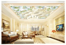 Custom any size photo European soft bag pattern 3D ceilings mural 3d ceiling murals wallpaper