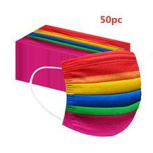 50pc kolorowe jednorazowe visage-maks dla dorosłych dobra jakość i niska cena visage-maks Cosplay szaliki tłumik szal Bandanna