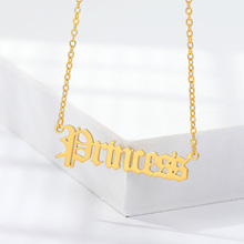 2020 Fashion Gold Babygirl Letter Necklace Name Pendants Lovely Stainless Steel Angle Necklace Women Girls Jewelry Gift for Mom high quality fashion gents women stainless steel health jewelry anion fir germanium gold necklace pendants