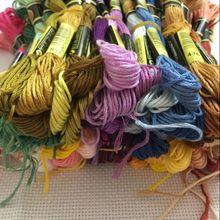 Мм 50 цветов вышивка крестом нить шитье, моток пряжи ремесло DIY браслет плетеный