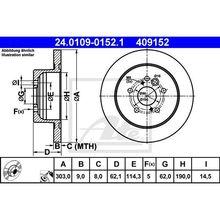 Диск тормозной задний Toyota Rav4 II 1.8/2.0 VVTi/2.0 D-4D 4WD 0