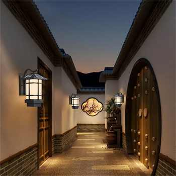 OUFULA Solar Wall Light Fixture Outdoor Modern LED Sconce Waterproof Patio Lighting For Porch Balcony Courtyard Villa Aisle