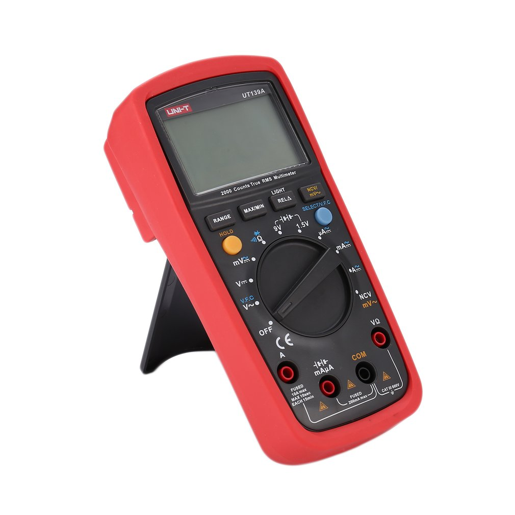 Digital Multimeter UNIT DC/AC Voltage Current Meter Handheld Ammeter Ohm Diode NCV Tester 1999 Counts Multitester No Contact image