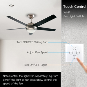 Image 2 - WiFi Smart Ceiling Fan Light Lamp Wall Switch Smart Life/Tuya APP Remote Various Speed Control Works with Alexa Echo Google Home