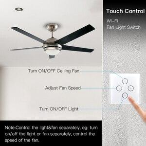 Image 2 - WiFi Smart Decke Fan Licht Lampe Wand Schalter Smart Leben/Tuya APP Remote Verschiedene Geschwindigkeit Control Arbeitet mit Alexa echo Google Hause