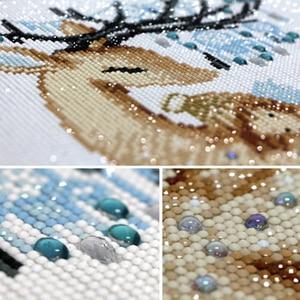 Image 2 - Meian 5D יהלומי ציור מלאך איילים מלא תרגיל יהלומי פסיפס סטי דיאמנט DP ערכות מיוחד בצורת יהלום רקמה בעלי חיים