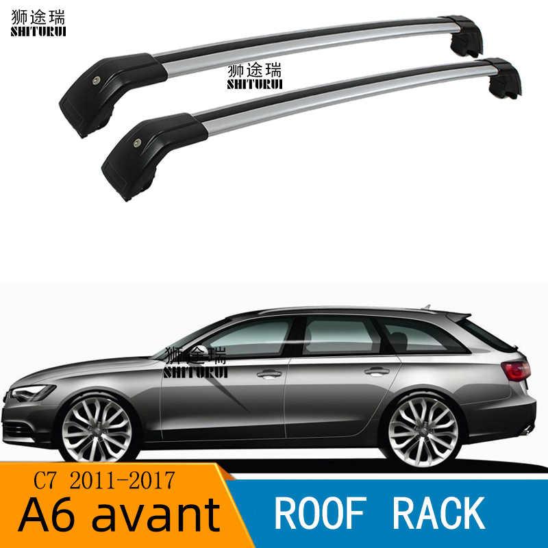 M-Way 135cm Bloqueable Aluminio Baca coche Barras cruzadas rail para Audi A6 Avant