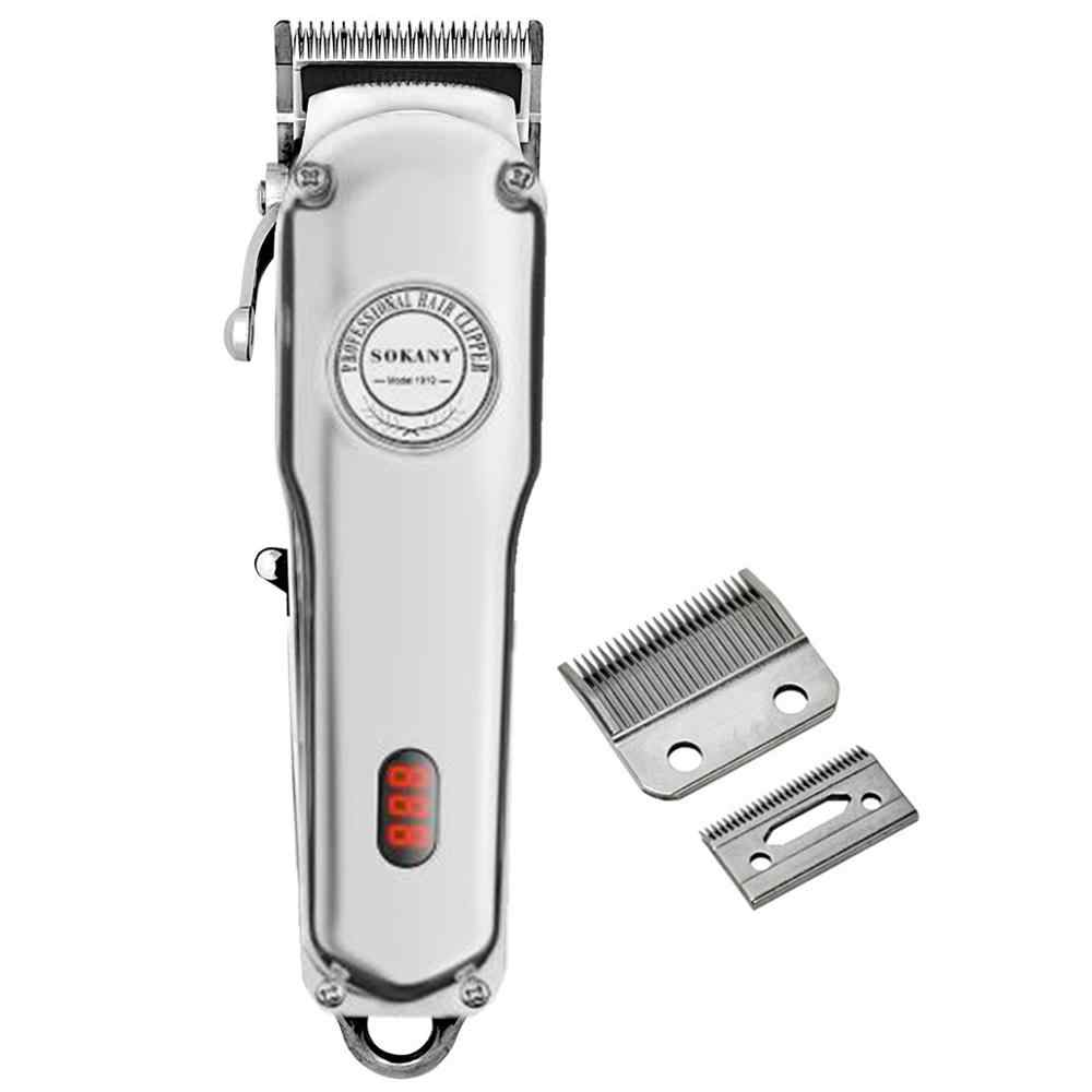 All-metal professional hair clipper barber electric hair trimmer cordless  hair cutting machine haircut rechargeable finishing