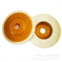 4 Polegada Angular Feltro de Polimento Roda de Lã Roda 100*8*16 Ângulo Moedor de Disco de Polimento do Espelho polimento|Esmeril| |  -