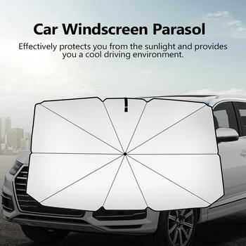 Osłony przeciwsłoneczne do samochodu pokrowce samochodowe osłony przeciwsłoneczne deski rozdzielczej osłony okienne Auto pokrowiec na przednią szybę w samochodzie wnętrze akcesoria ochronne UV tanie i dobre opinie KKMOON cloth metal Plandeki samochodowe Car Windscreen Parasol