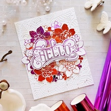 Hot Foil Plate HELLO copperplate glimmer Phrase Word for DIY Scrapbooking  New 2019 Embossing Paper Cards Crafts