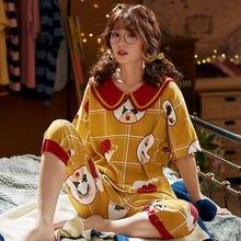 Костюм из 2 предметов милая Весенняя домашняя пижама размера