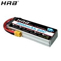 Comprar HRB Lipo batería 14,8 V 3000mah 4S 60C XT60 EC5 XT90 XT90-S AS150 Deans T enchufe hembra RC Quadcopter aviones FPV Drone piezas de coche