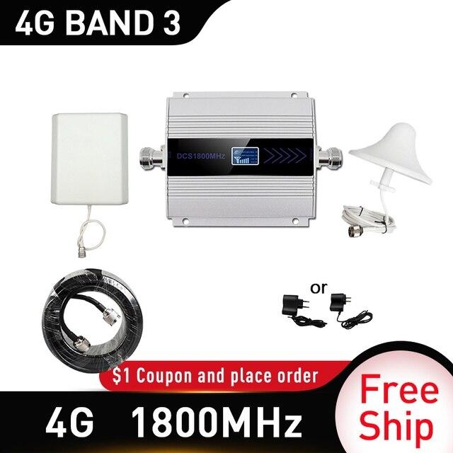 4G LTE CDMA 1800 MHz โทรศัพท์มือถือสัญญาณ Booster Repeater DCS 1800 MHz โทรศัพท์มือถือ Cellular GSM 1800 โทรศัพท์มือถือโทรศัพท์รัสเซีย