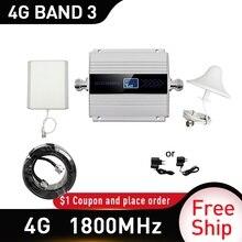 4g sinyal güçlendirici CDMA 1800mhz mobil sinyal güçlendirici tekrarlayıcı DCS 1800Mhz cep telefonu hücresel GSM 1800 cep telefonu rusya