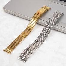 Stainless Steel Watchband 20mm Spring Loaded Tension Watch Strap For Apple Watch Series Bracelet Gold Silver Strap Accessories watchband for rolexwatch solid stainless steel watch bands bracelet watch accessories silver 20mm 21mm submariner man watch tool
