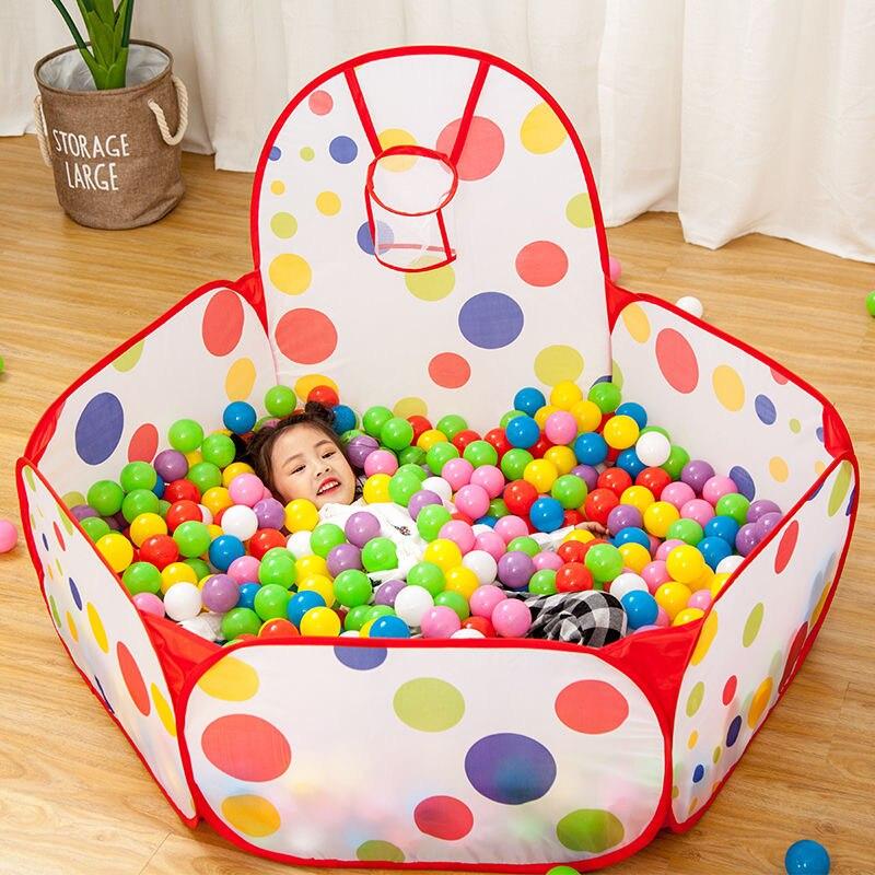 1,5 м портативный детский манеж детский мячик с Баскетбольным кольцом детский сухой мяч бассейн складывающиеся уличные балленбак игрушки|Сухие бассейны с шариками|   | АлиЭкспресс