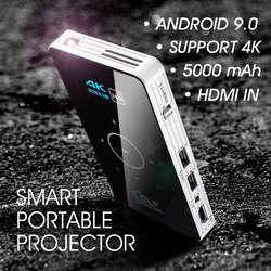 ALSTON C6 Mini 4K DLP Android 9.0 Projector WiFi Bluetooth 4.0 Portable Outdoor Movie Video Home Cinema Support Miracast Airplay