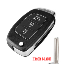 KEYYOU 3 przyciski odwróć składane zdalne Auto obudowa kluczyka samochodowego dla hyundai Solaris IX35 IX45 ELANTRA Santa Fe HB20 Verna Solaris tanie tanio For Hyundai 3 Buttons Flip Folding Remote Key Shell In China For Hyundai Solaris IX35 IX45 ELANTRA Santa Fe HB20 Verna Solaris