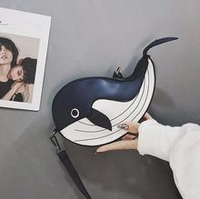 Cute Whale Design Fashion Pu Leather Women Flap Tote Bag with Shoulder Strap Mini Messenger Bag for Women Bag charming women s tote bag with crocodile print and pu leather design