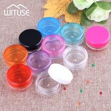 10pcs 3g/5g Empty Plastic Clear Cosmetic Jars Makeup Container Lotion Bottle Vials Face Cream Sample Pots Gel Box Plastic Sample
