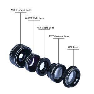 Image 2 - APEXEL HD 5 w 1 zestaw obiektywów aparatu telefonicznego obiektyw typu rybie oko + 0,63x szeroki kąt + 15x obiektyw makro + 2X teleobiektyw + obiektyw CPL dla większości telefonów