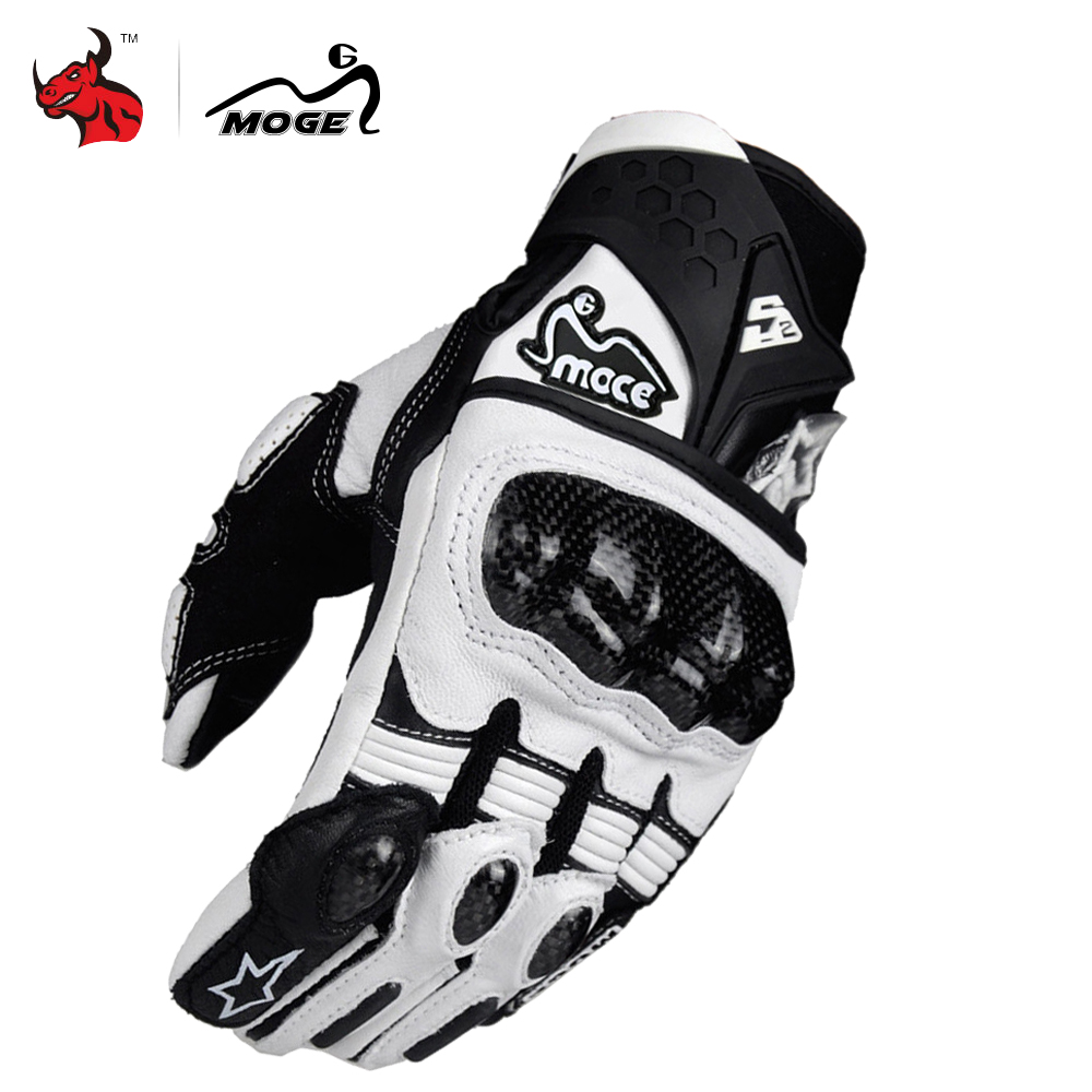 Breathable Leather All Weather Motorbike Motocross Gloves Carbon Black Men /& Wom