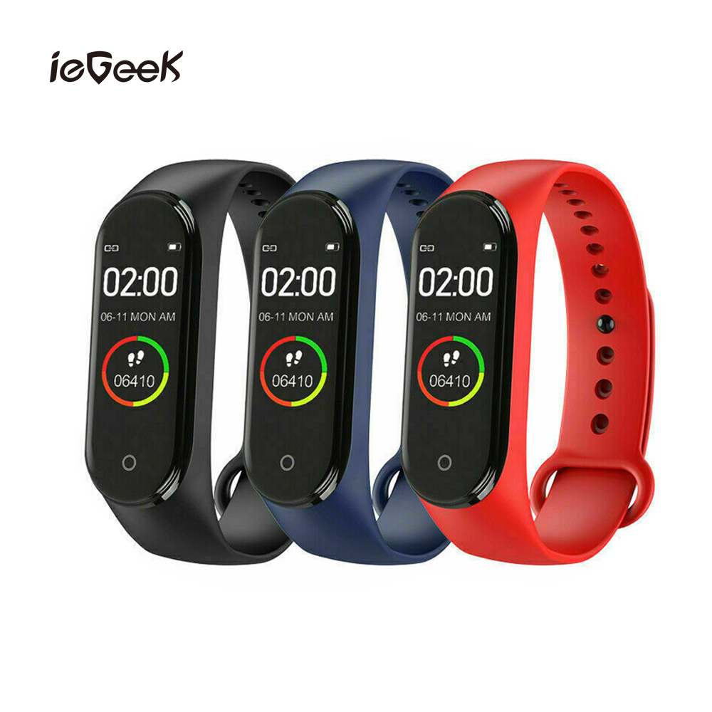 M4 Sports Smart Band Fitness Tracker for Men Women Fashion Silicone Bracelet Heart Rate Blood Pressure Monitor Health Smartwatch