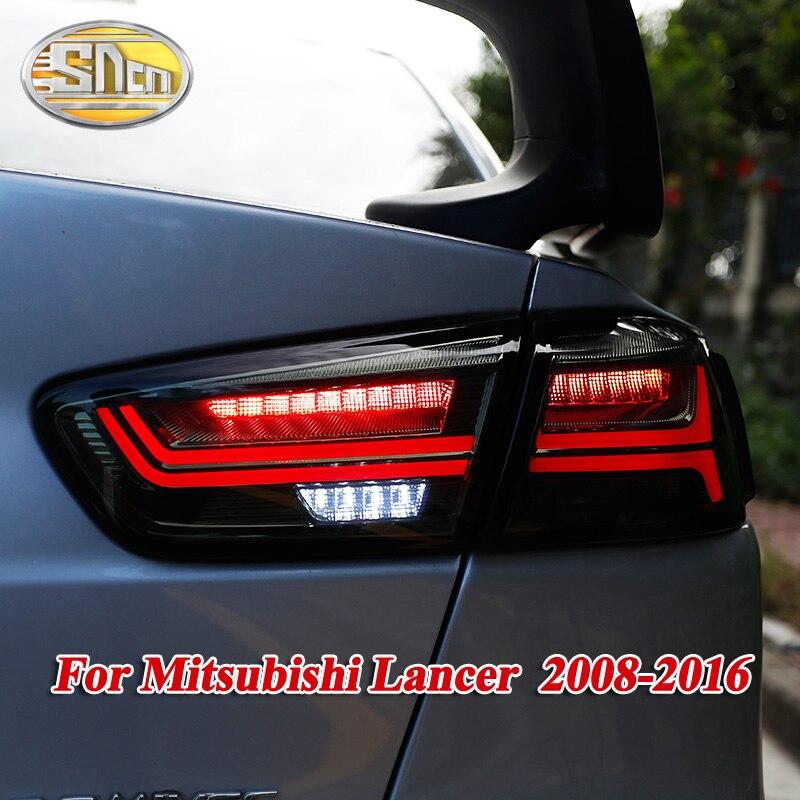 Rear Lamp + Brake Light + Reverse Light + Dynamic Turn Signal Light Car LED Tail Light Taillight For Mitsubishi Lancer 10