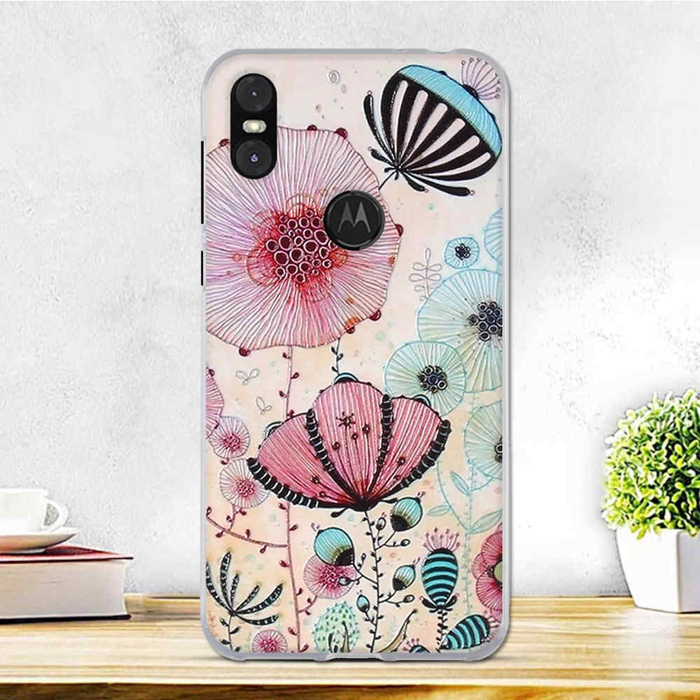 Case For Motorola One Case Silicone Soft TPU Cellphone Cute Bumper Housing Black Cover For Fundas Moto P30 Play Cover Phone Case