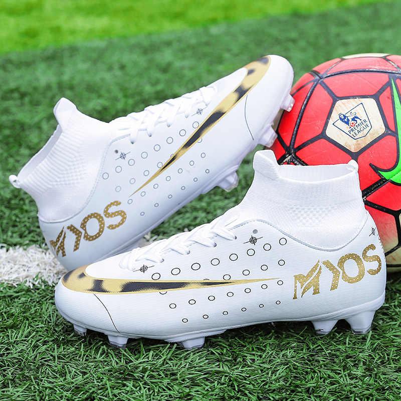 Mais novo masculino meninos grandes botas de futebol flyknit 360 cr7 elite tênis ao ar livre malha 360 sapatos legend 7 chuteira futebol