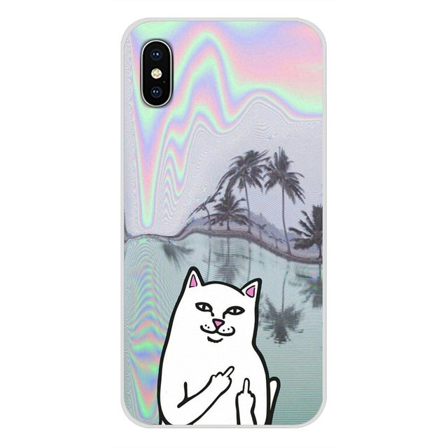 For Oneplus 3T 5T 6T Nokia 2 3 5 6 8 9 230 3310 2.1 3.1 5.1 7 Plus 2017 2018 Cell Phone Skin Case Cute Popular middle finger cat