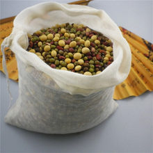 Reusable Empty Tea Bags with Drawstring Cotton Soup Straining Herbs Bags Coffee Brew Soup Gravy Broth Stew Bags(China)