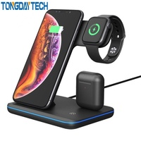 Tongdaytech 15W Qi Wireless Charger For Iphone X 8 11 Pro Max Quick Charge Fast Charger Stand For Apple Airpods Watch 5 4 3 2 1