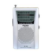 Najnowszy Mini kieszeń Radio antena teleskopowa Mini AM/FM 2-Band radiowej świata odbiornik z głośnik 3.5mm gniazdo słuchawkowe