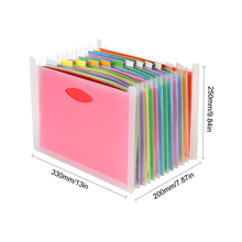 Expanding File A4 Folder Office School Portfolio File folders Document Organizer Plastic 12 Pockets 1500 Sheets Large Capacity xiaobaomao a4 commercial business document bag tote file folder filing meeting bags pocket office bags pocket large capacity